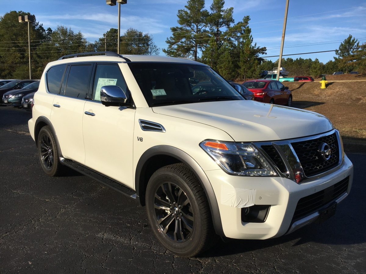 Where can I find the all-new 2017 Nissan Armada Platinum 4×4 in Pearl White?