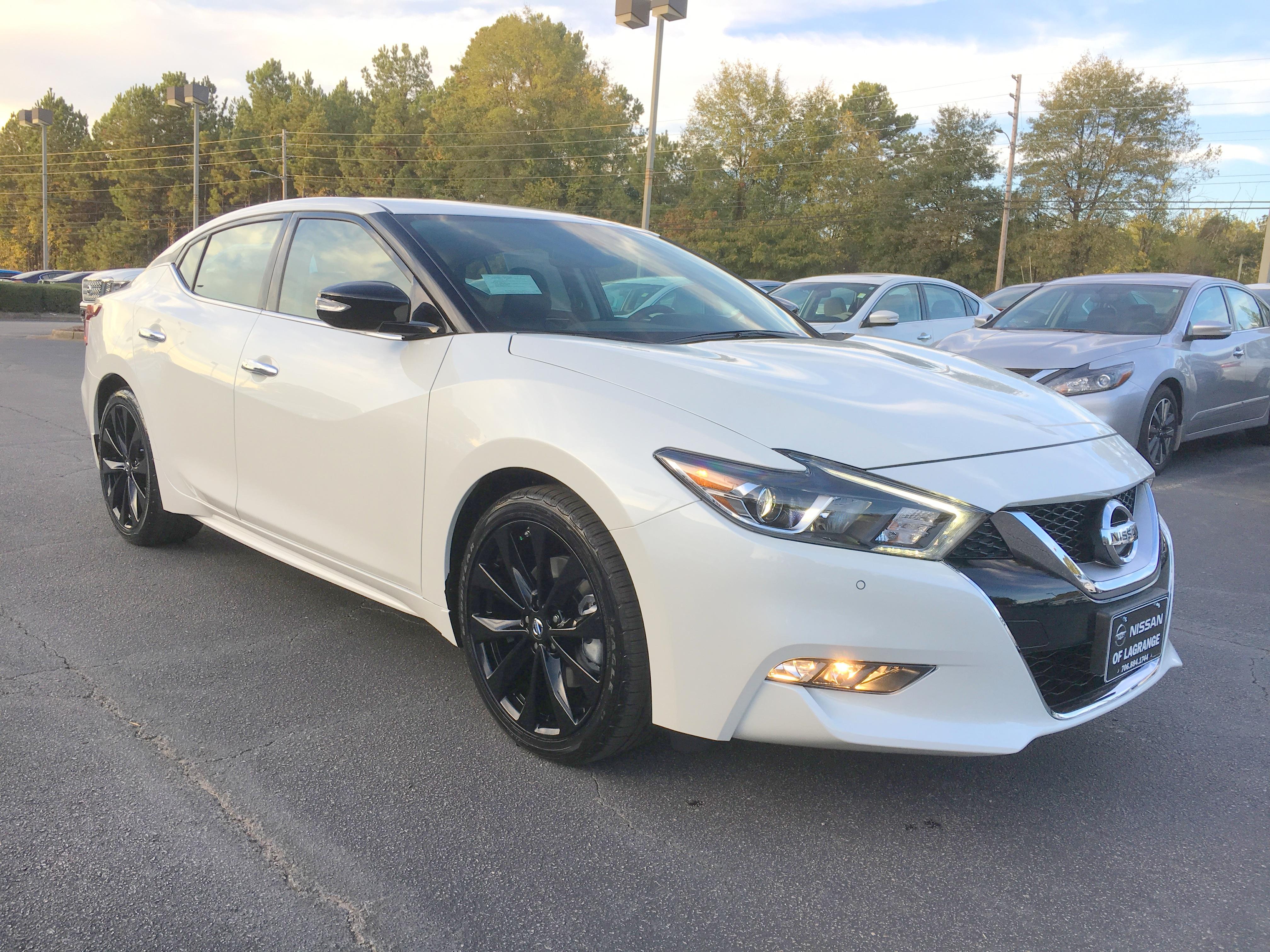 2017 Nissan Maxima Sr Midnight Edition Pearl White