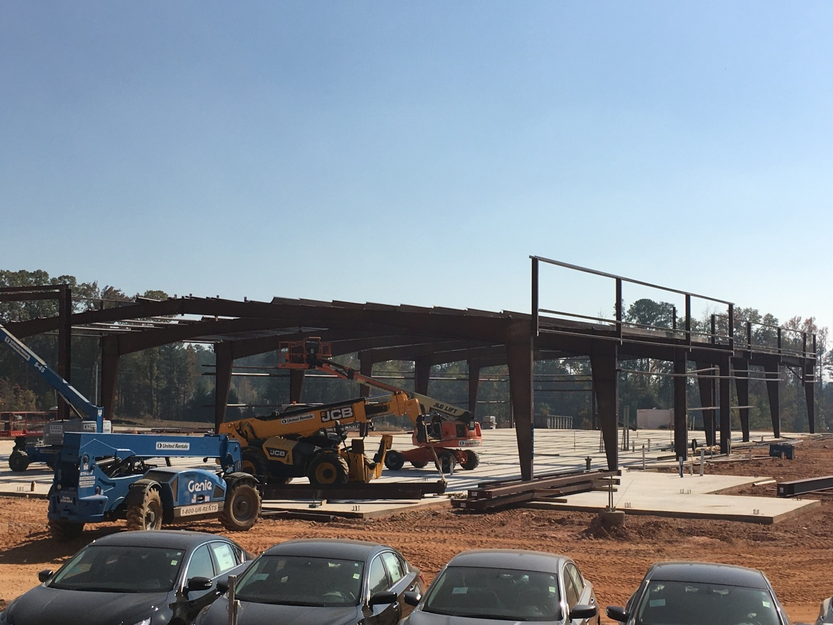 Construction moves into overdrive on the all-new facility for Nissan of LaGrange in LaGrange,Georgia