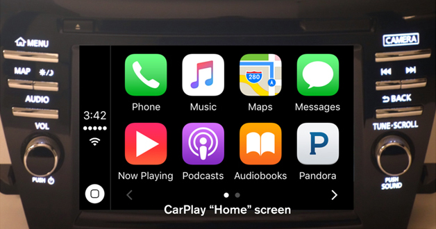 Apple Car Play Home Screen Nissan of LaGrange